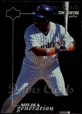 1996 Upper Deck #377   -  Tony Gwynn Best of a Generation