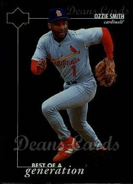 1996 Upper Deck #386   -  Ozzie Smith Best of a Generation