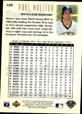 1996 Upper Deck #109  Paul Molitor
