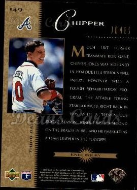 1996 Upper Deck #149   -  Chipper Jones Beat the Odds