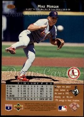 1996 Upper Deck #181  Mike Morgan