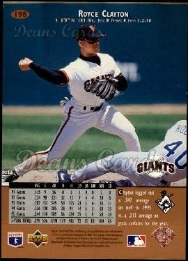 1996 Upper Deck #198  Royce Clayton