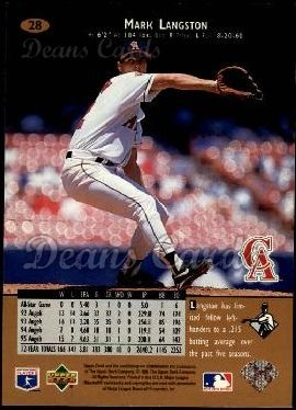 1996 Upper Deck #28  Mark Langston