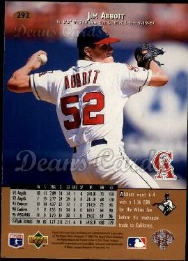 1996 Upper Deck #292  Jim Abbott