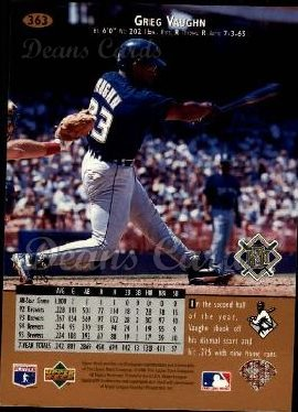 1996 Upper Deck #363  Greg Vaughn