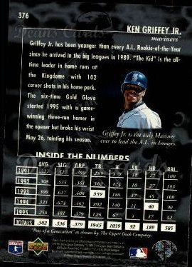 1996 Upper Deck #376   -  Ken Griffey Jr. Best of a Generation