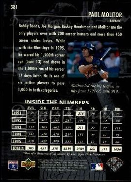 1996 Upper Deck #381   -  Paul Molitor Best of a Generation