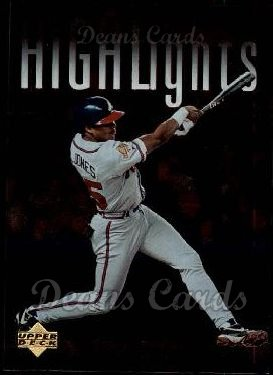 1997 Upper Deck #324   -  Andruw Jones Season Highlights