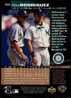 1997 Upper Deck #500  Alex Rodriguez
