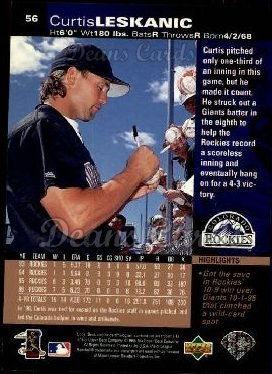 1997 Upper Deck #56  Curtis Leskanic