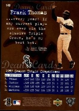1998 Upper Deck #143   -  Frank Thomas Define The Game