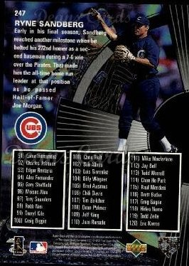 1998 Upper Deck #247   -  Ryne Sandberg Season Highlights