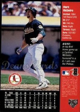 1998 Upper Deck #9   -  Mark McGwire Griffey's Hot List