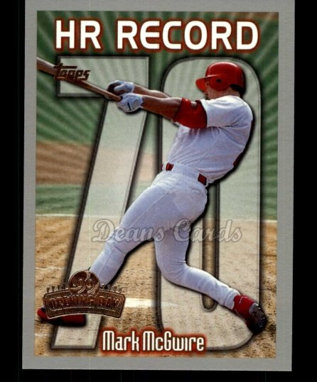 1999 Topps Opening Day #163  Mark McGwire