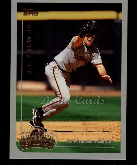 1999 Topps Opening Day #74  J.T. Snow