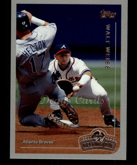 1999 Topps Opening Day #81  Walt Weiss