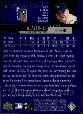 2000 Upper Deck #111  Jeff Weaver