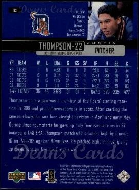 2000 Upper Deck #113  Justin Thompson