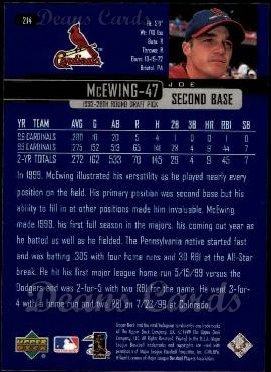 2000 Upper Deck #214  Joe McEwing