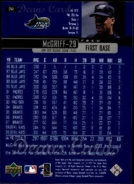 2000 Upper Deck #241  Fred McGriff