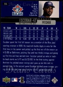 2000 Upper Deck #255  Kelvim Escobar