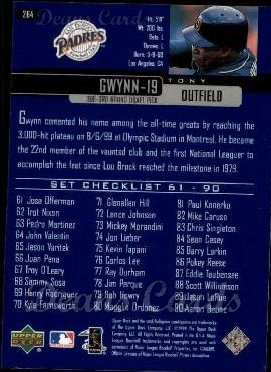2000 Upper Deck #264   -  Tony Gwynn Season Highlights