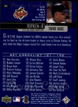 2000 Upper Deck #266   -  Cal Ripken Season Highlights