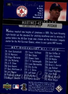 2000 Upper Deck #269   -  Pedro Martinez Season Highlights