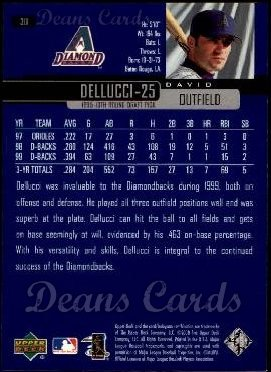2000 Upper Deck #311  David Dellucci