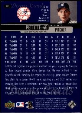 2000 Upper Deck #445  Andy Pettitte