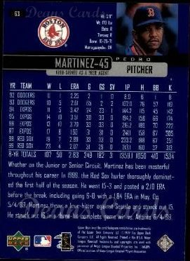 2000 Upper Deck #63  Pedro Martinez
