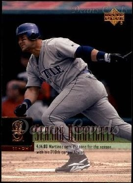 2001 Upper Deck #448   -  Edgar Martinez Season Highlights