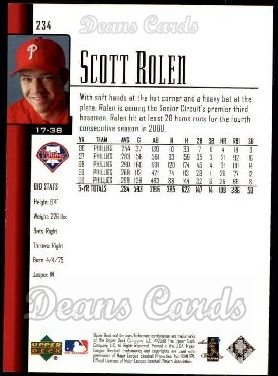 2001 Upper Deck #234  Scott Rolen