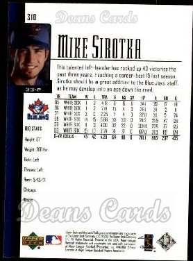 2001 Upper Deck #310  Mike Sirotka
