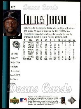 2001 Upper Deck #412  Charles Johnson