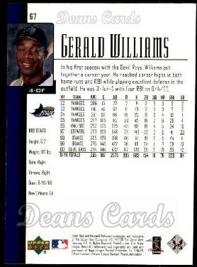 2001 Upper Deck #67  Gerald Williams