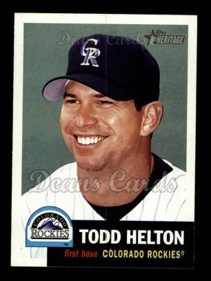2002 Topps Heritage #373  Todd Helton