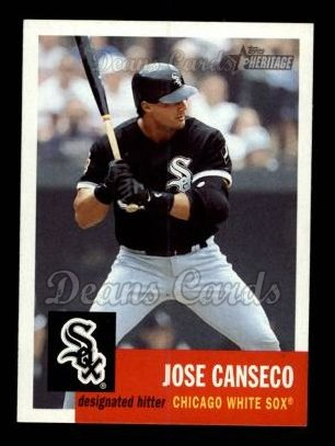 2002 Topps Heritage #382  Jose Canseco