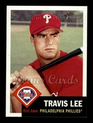 2002 Topps Heritage #395  Travis Lee