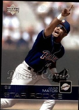 2003 Upper Deck #25   -  Julius Matos Star Rookie