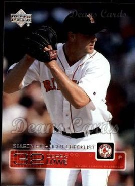 2003 Upper Deck #262   -  Derek Lowe Season Highlights