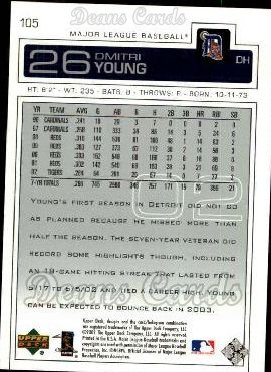 2003 Upper Deck #105  Dmitri Young