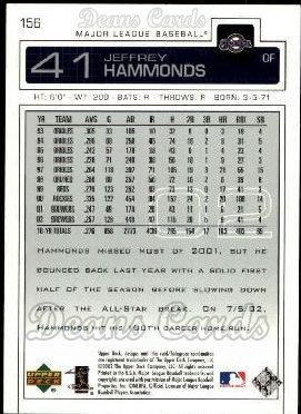 2003 Upper Deck #156  Jeffrey Hammonds