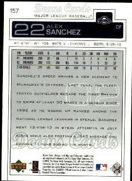 2003 Upper Deck #157  Alex Sanchez