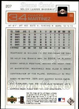2003 Upper Deck #207  Ramon E. Martinez