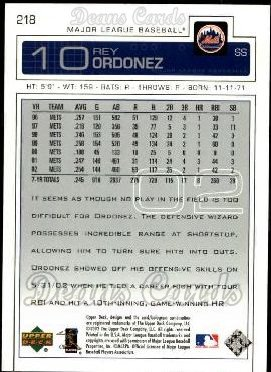 2003 Upper Deck #218  Rey Ordonez