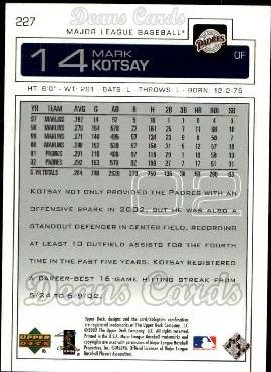 2003 Upper Deck #227  Mark Kotsay