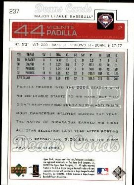 2003 Upper Deck #237  Vicente Padilla
