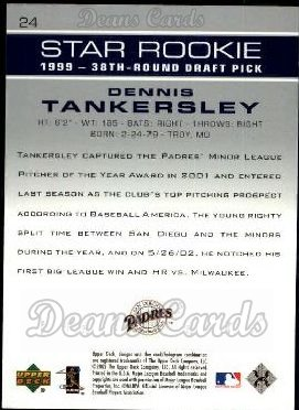 2003 Upper Deck #24   -  Dennis Tankersley Star Rookie