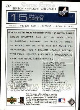2003 Upper Deck #261   -  Shawn Green Season Highlights